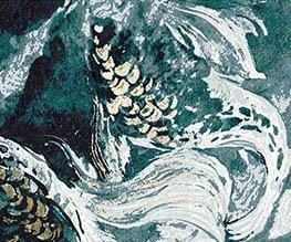 Blue Fish из коллекции Aquarelle Катерины Колеговой