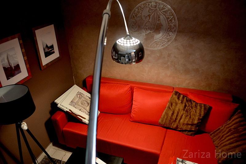 светильник на ноге