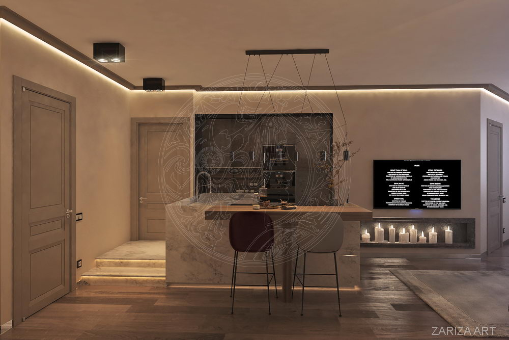вид на кухню