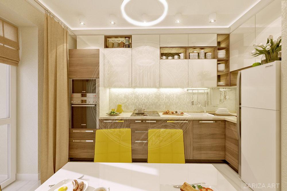 вид на кухонный гарнитур