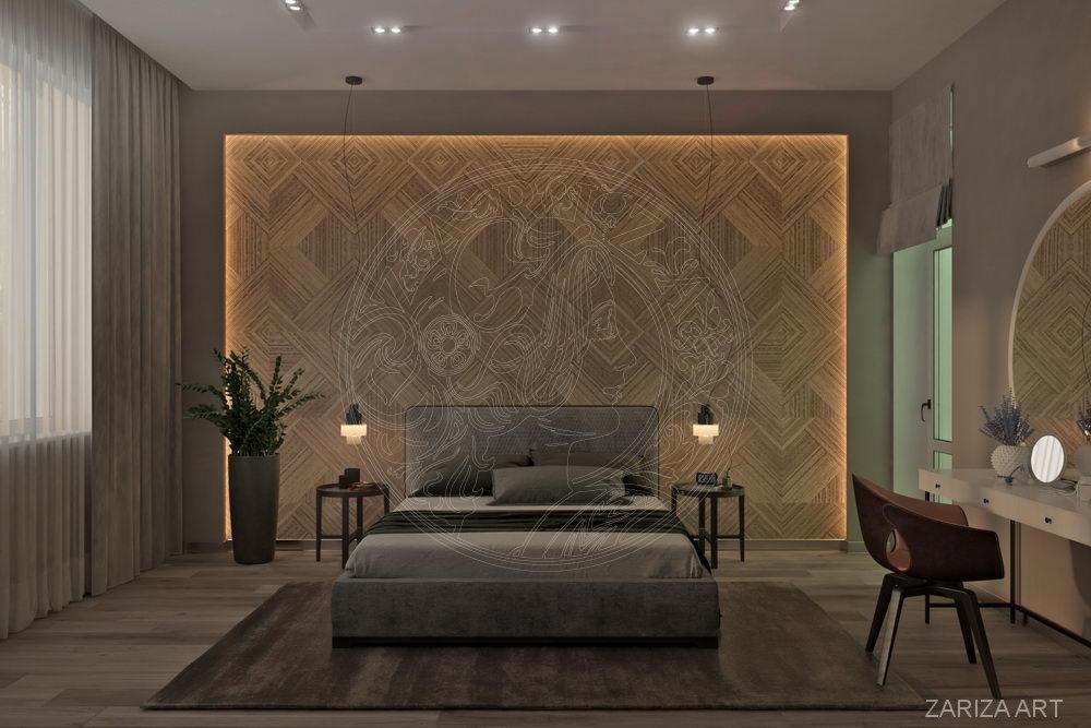 плитка на стене в спальне
