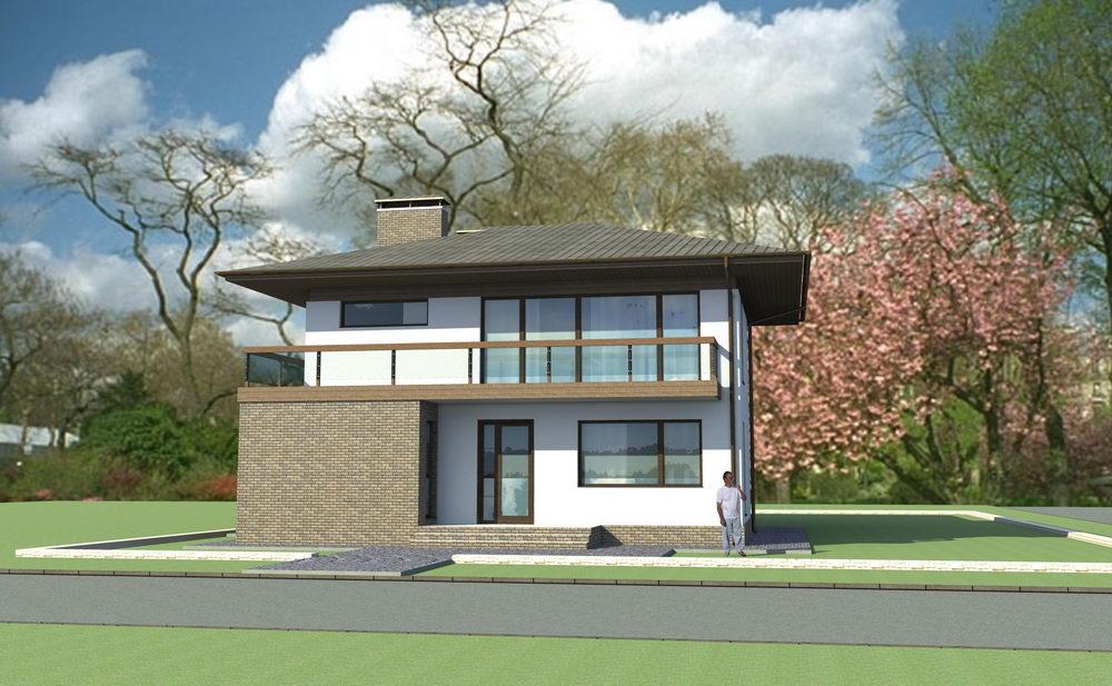 фасад дома первый вариант архитектора