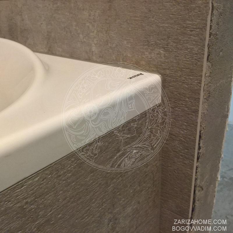 плитка и акриловая ванная