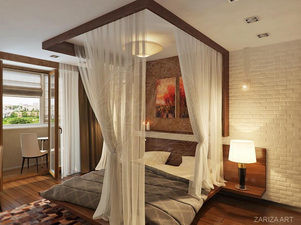 кровать в балдахином