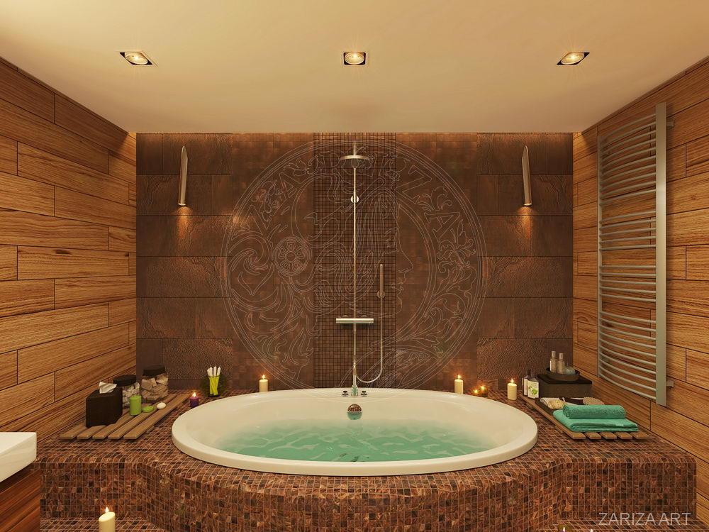 круглая большая ванная