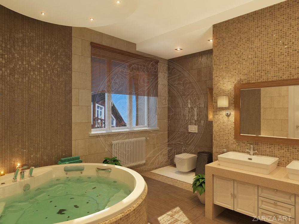 круглая ванная в частном доме