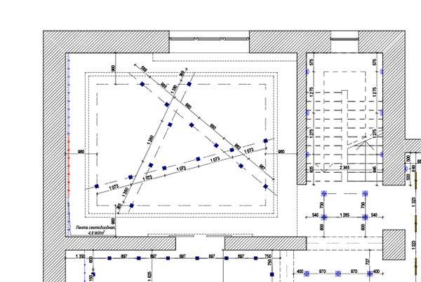 план светильников