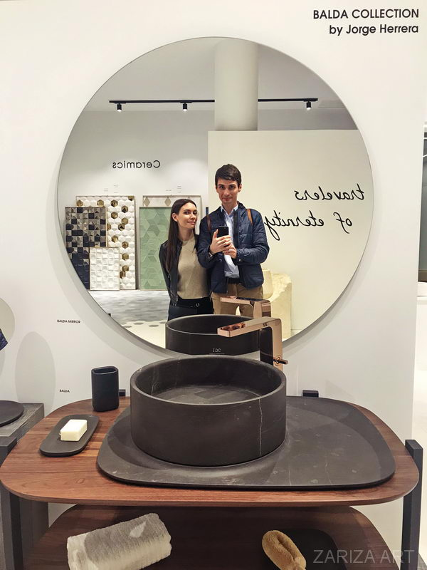 Сергей и Ася на фабрике в Испании 2019