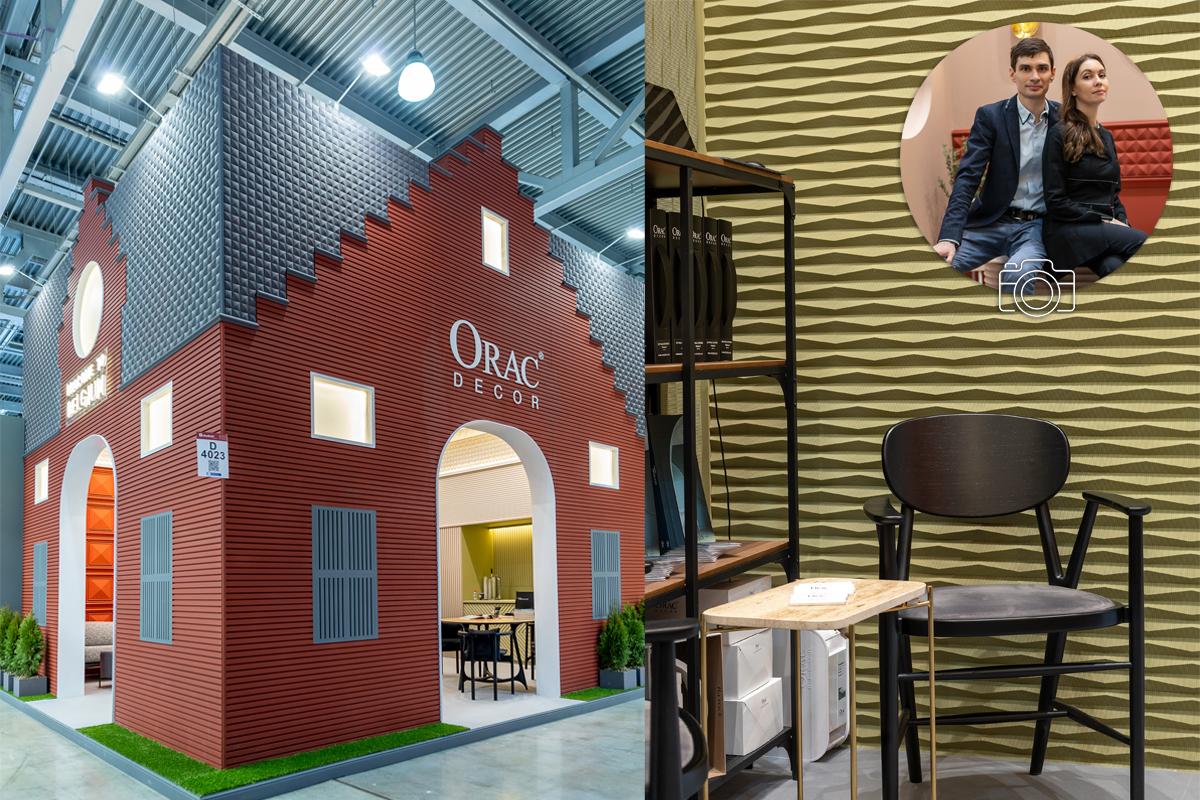 проект стенда для Orac Decor на Mosbuild 2021 бельгийский домик