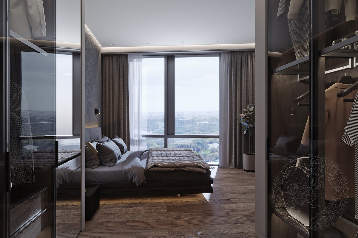 гардероб и кровать