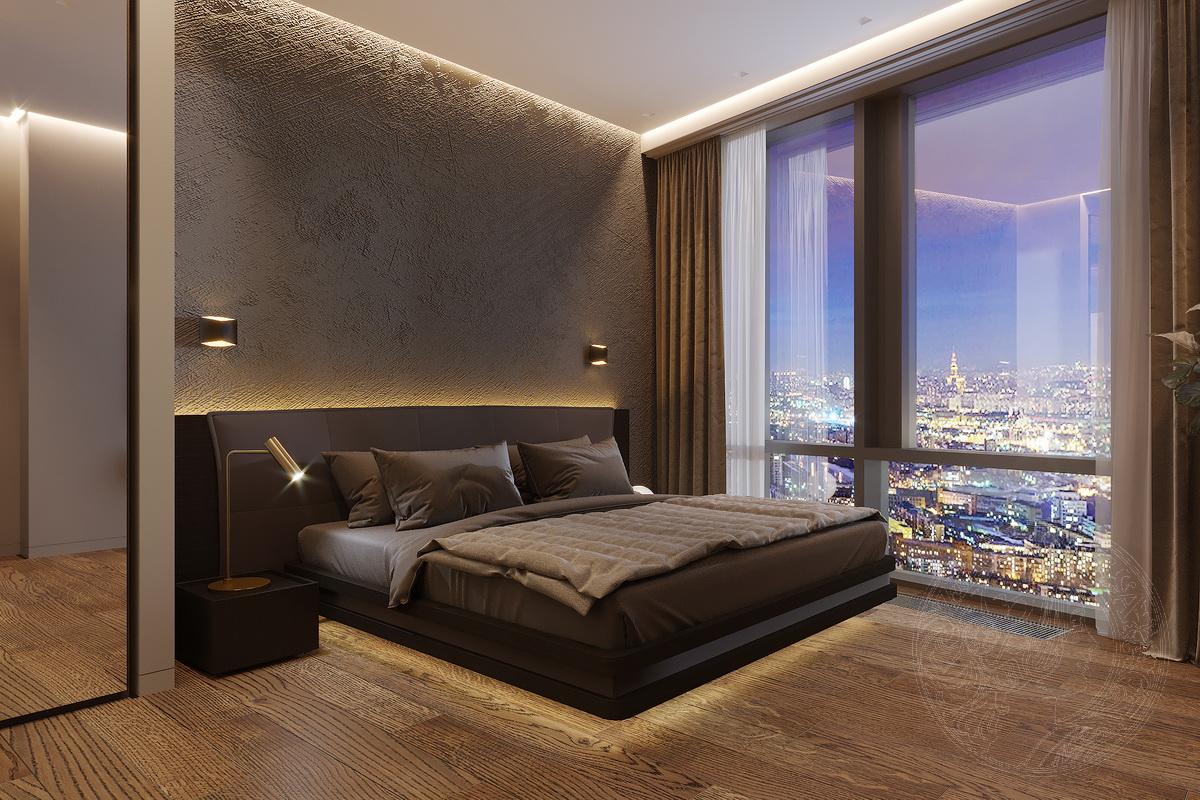 ночной вид спальни
