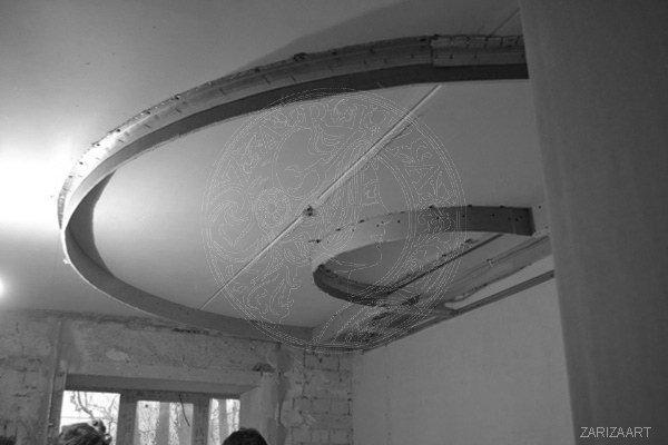 собираем потолок в спальне