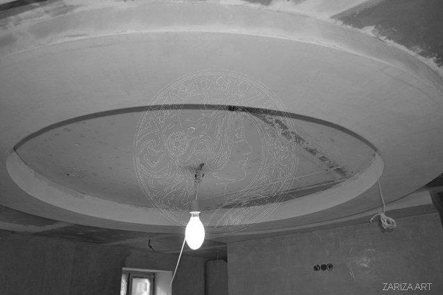 фото потолка в процессе сборки