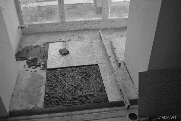 укладка плитки на лоджии