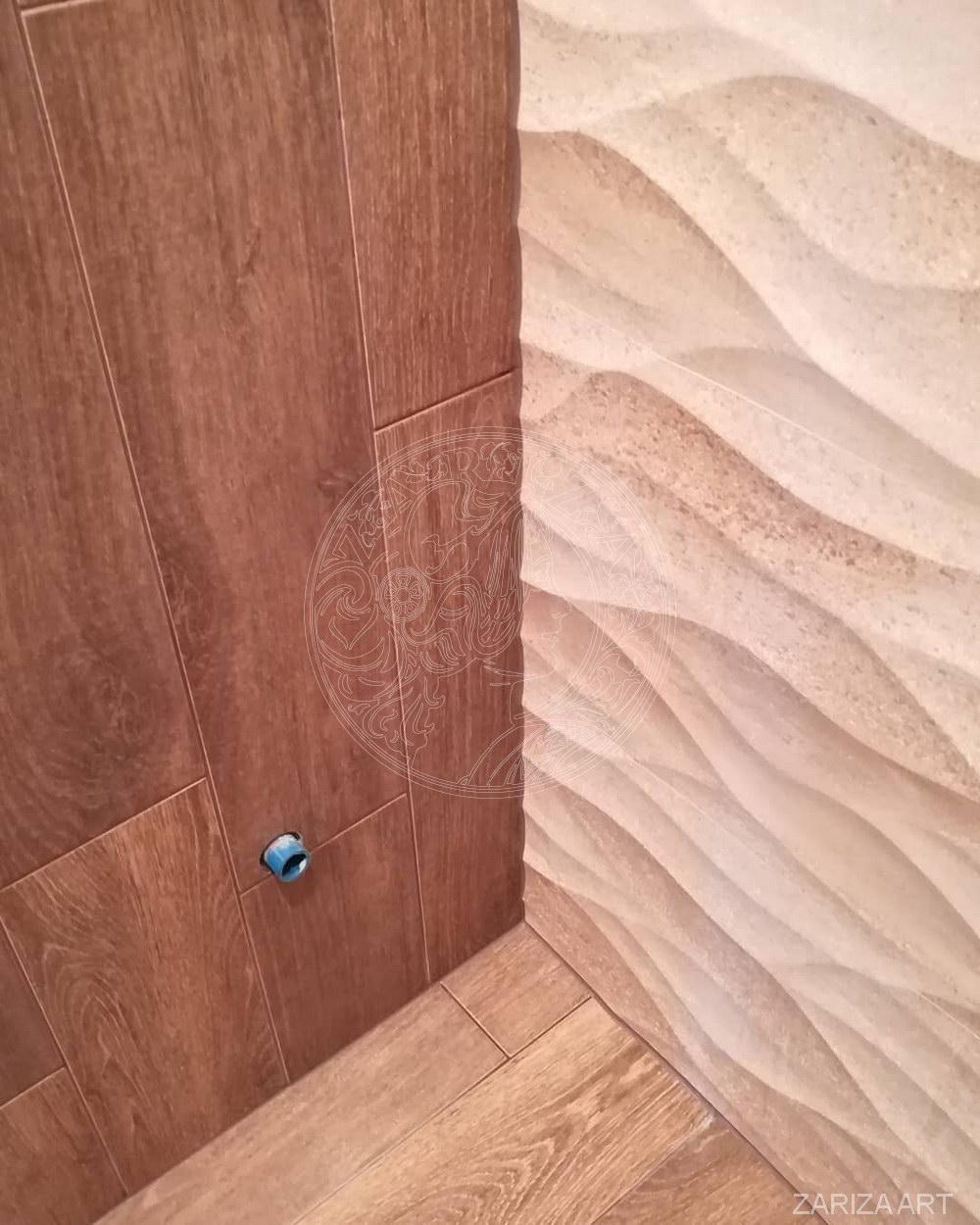 стык рельефной и фоновой плитки