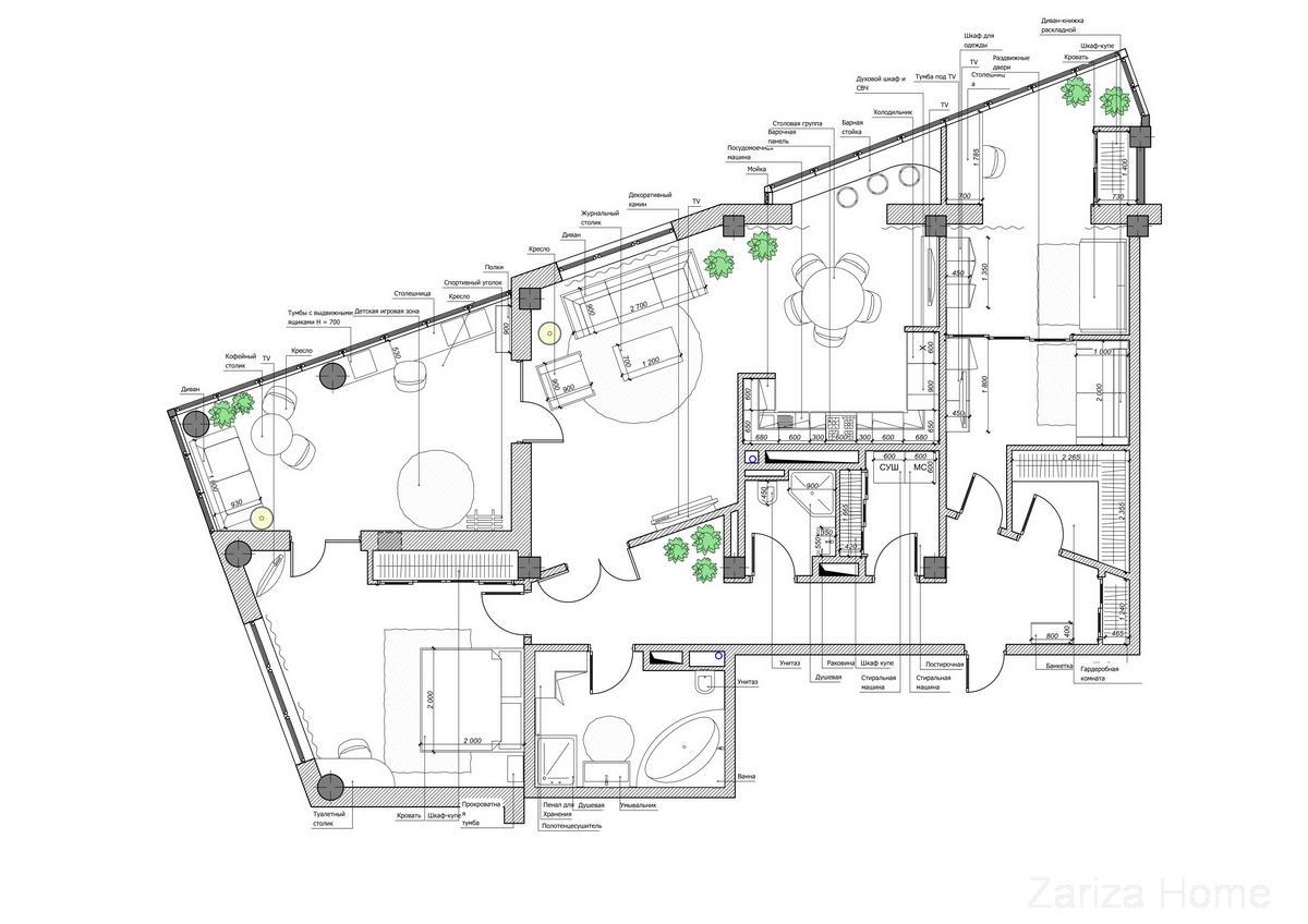 Планировочные решения квартиры Point of View