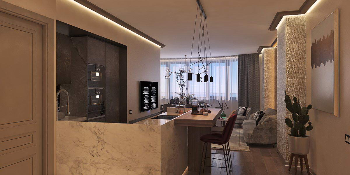 Проект интерьера квартиры Felicity