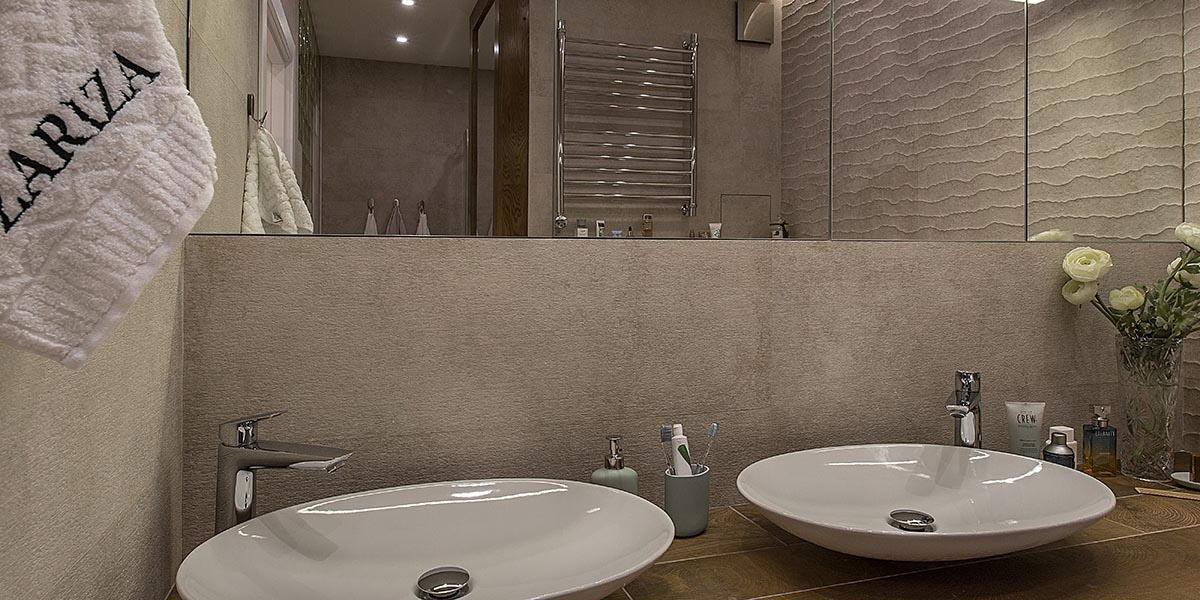 Дизайн интерьера и ремонт ванной под ключ