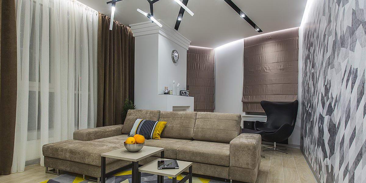 Проектирование интерьера гостиной в квартире