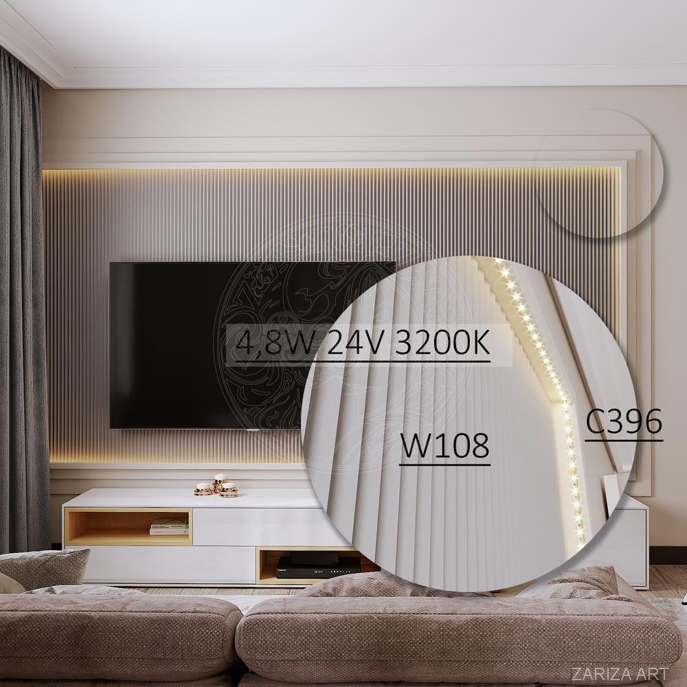 схема стены с телевизором