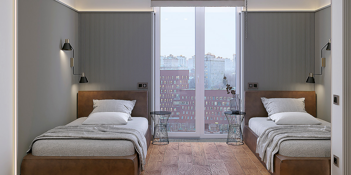детская комната с панорамным окном