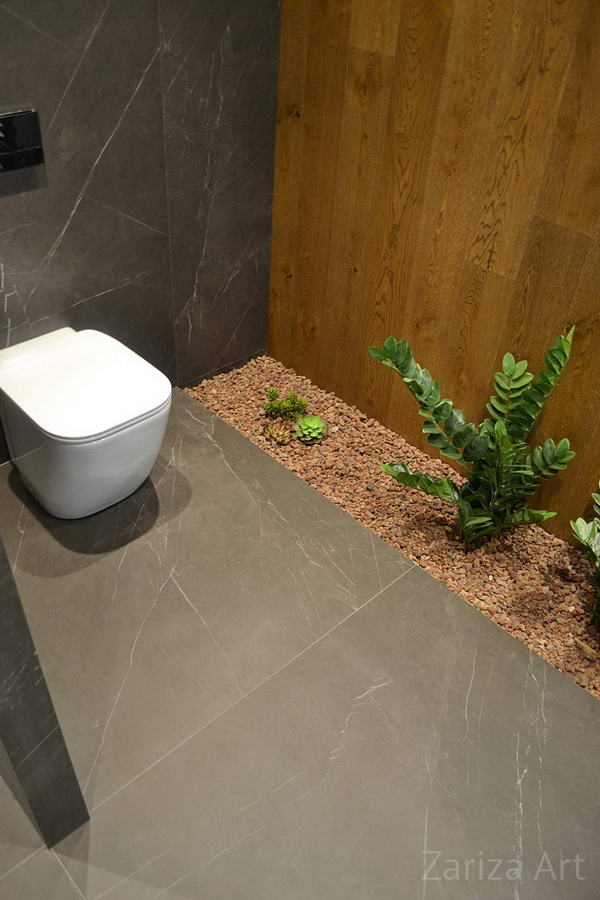 туалет с зеленью