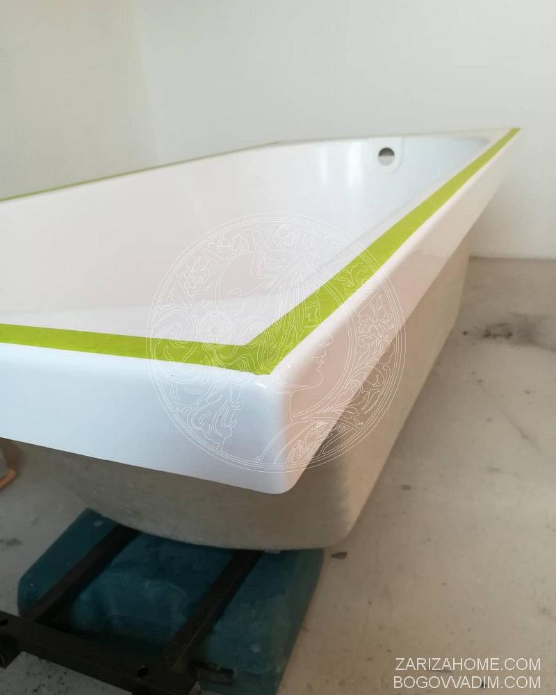 стыковка борта ванной и плитки