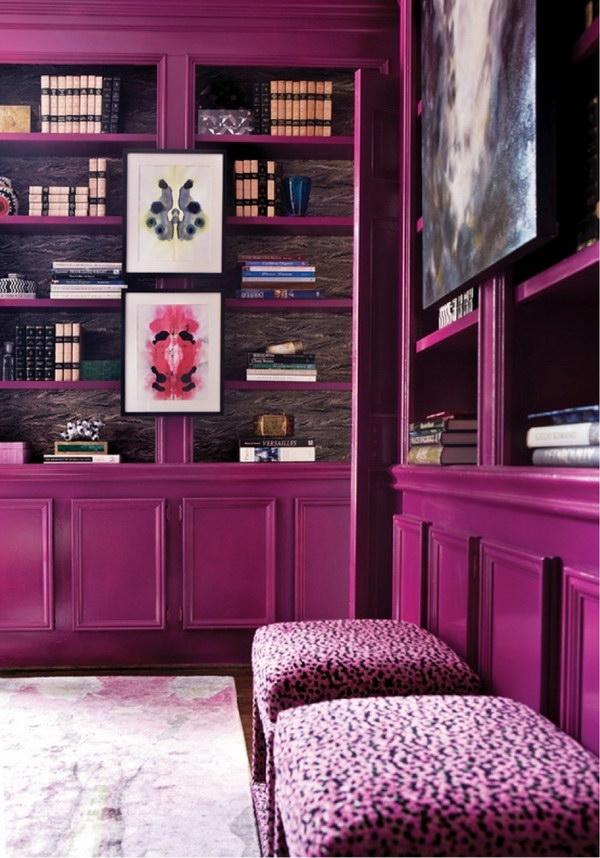 мебель пурпурного цвета