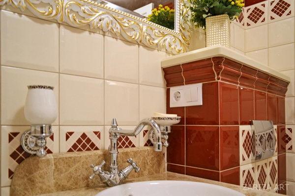 классическая мойка в ванной