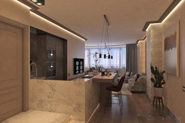 трехкомнатные апартаменты в современном стиле