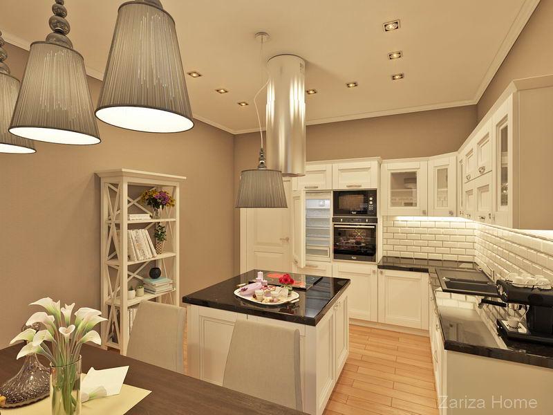 кухня в классике в доме