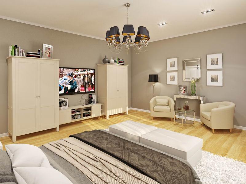 гостевая спальня с американским дизайном