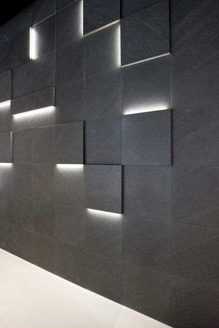 эффект светящихся квадратов в интерьере