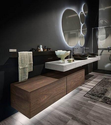 свет в ванной темные стены