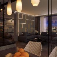 Дизайн интерьера четырехкомнатной квартиры Minimal
