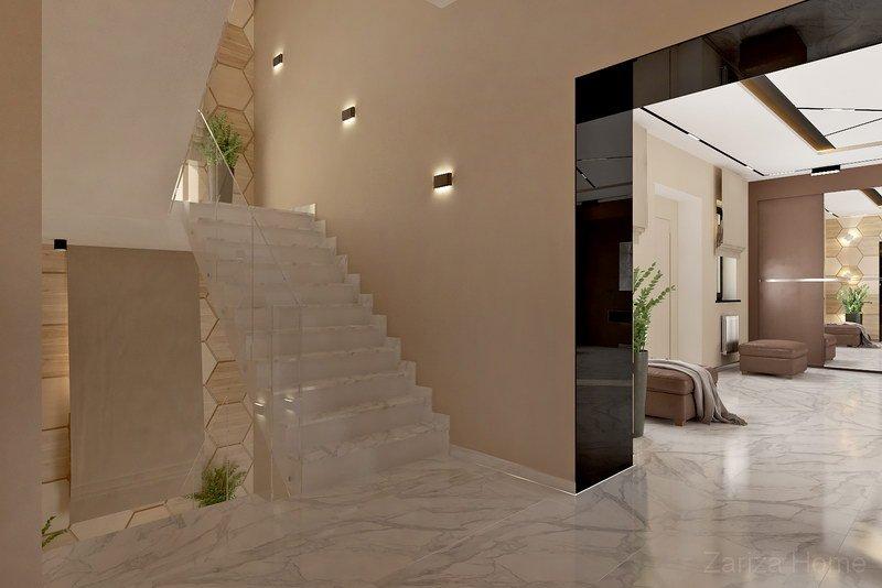 лестница в трехэтажном доме