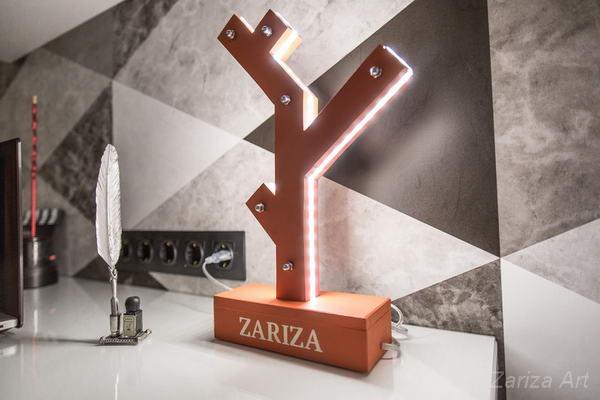 светильник, которые мы придумали