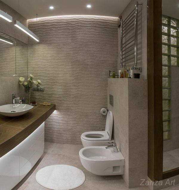 ванная со стиральной под столешницей