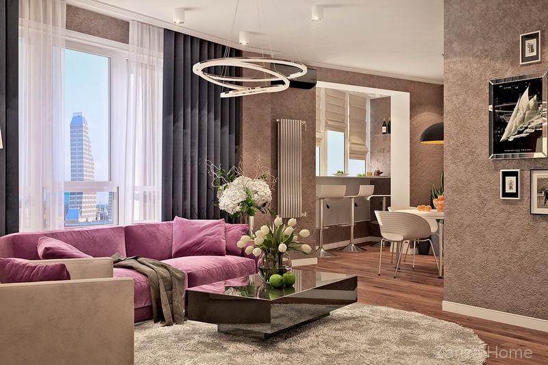 современный дизайн квартиры в новостройке