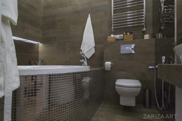 круглая ванная мозаика
