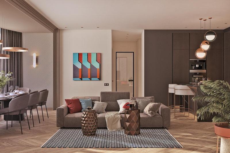 ✔ Дизайн квартиры «ZigZag»