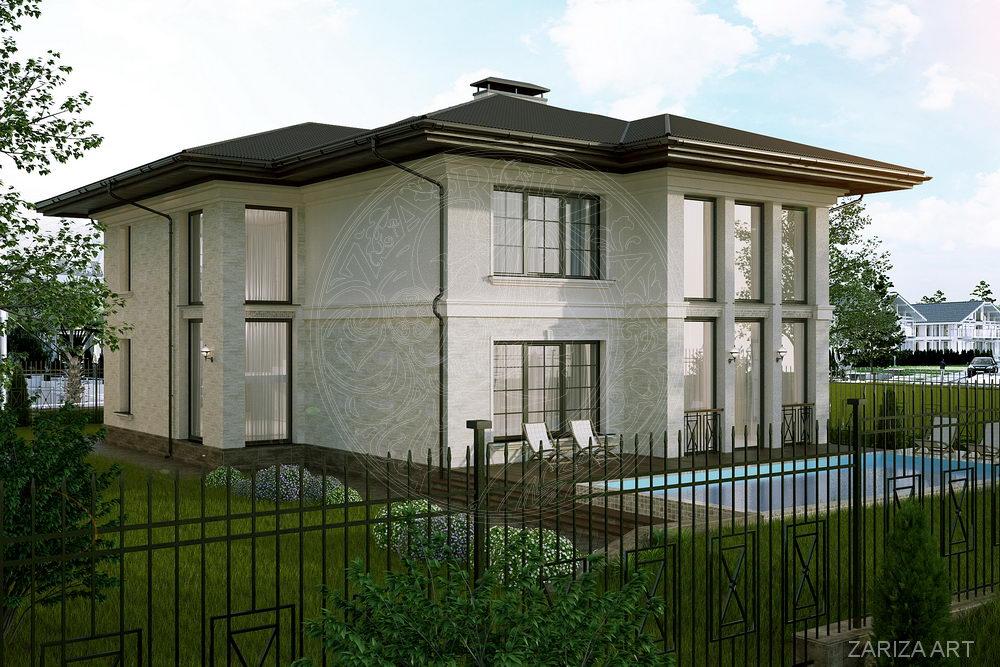 второй вариант фасадов дома